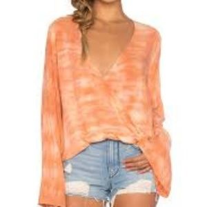 Blue Life Orange Tye Dye Blouse